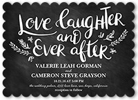 love and laughter forever wedding invitation 5x7 flat