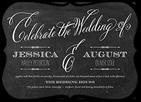 chalked union wedding invitation 5x7 flat