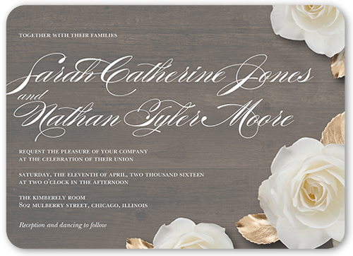 flowering fondness 5x7 wedding invitations shutterfly