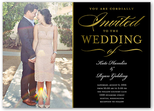 extravagant affair wedding invitation - Shutterfly Wedding Invitations