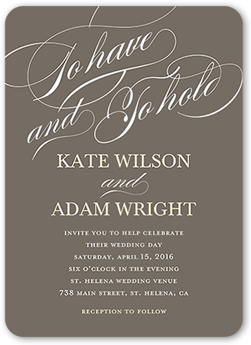 eternal vows wedding invitation - Shutterfly Wedding Invitations