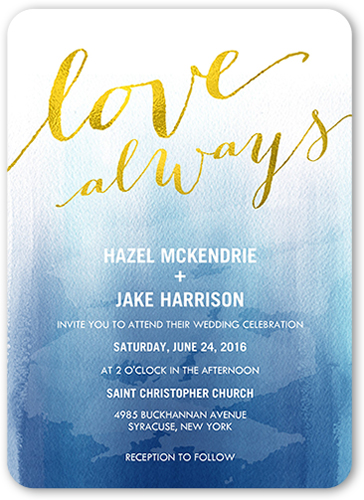 Forever In Love Wedding Invitation, Rounded Corners