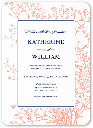 graceful elegance 5x7 wedding invitations shutterfly