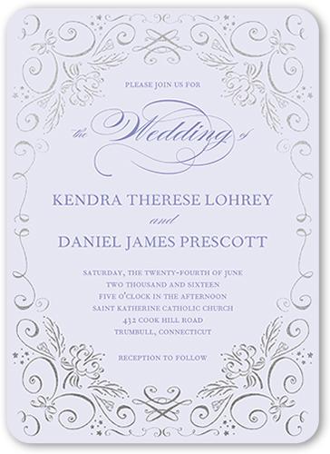 Whimsical Scrolls Wedding Invitation, Square