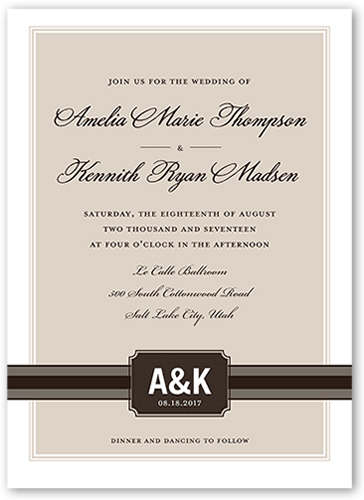 Simply Meant To Be Wedding Invitation, Square Corners