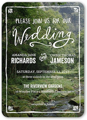 Darling Border Wedding Invitation, Rounded Corners
