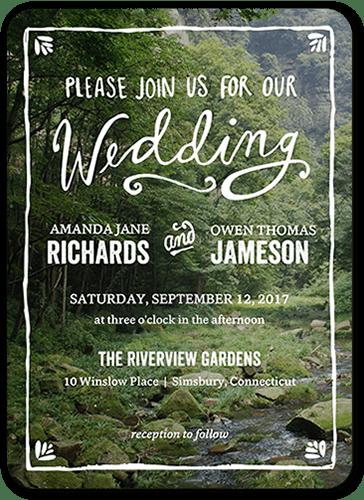 Darling Border Wedding Invitation, Square