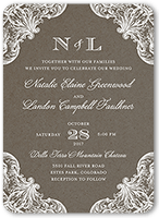 charming details wedding invitation 5x7 flat