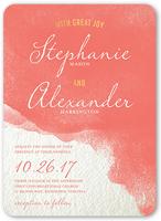 perfect watercolor wedding invitation 5x7 flat