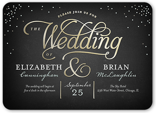 Splendid Statement Wedding Invitation, Rounded Corners