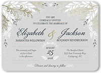 affectionate floral wedding invitation 5x7 flat