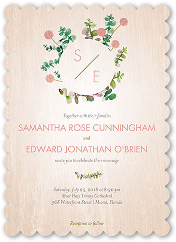 lovely floral wedding invitation - Shutterfly Wedding Invitations