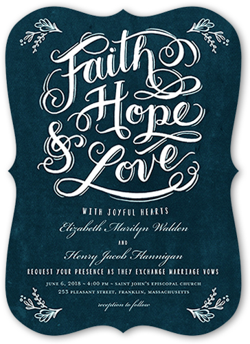 faith hope love wedding invitation - Shutterfly Wedding Invitations