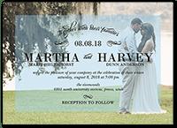our joyful moment wedding invitation 5x7 flat