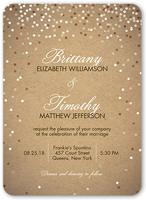 shimmering celebration wedding invitation 5x7 flat