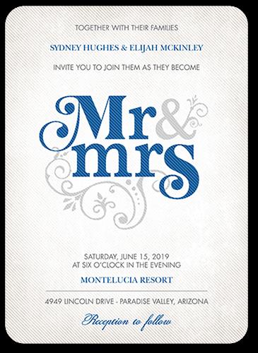 flourish title wedding invitation