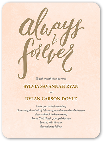 Forever Laced Wedding Invitation, Rounded Corners