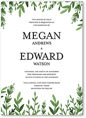 serene love wedding invitation