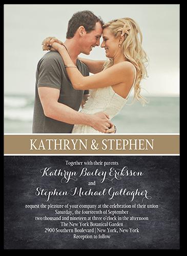 Cherished Calendar Wedding Invitation, Square Corners