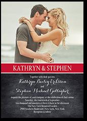 cherished calendar wedding invitation