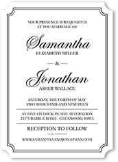 elegant love affair wedding invitation