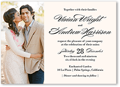 grandeur affair wedding invitation