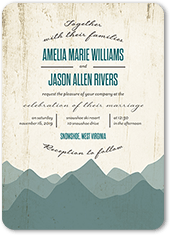 rustic horizon wedding invitation