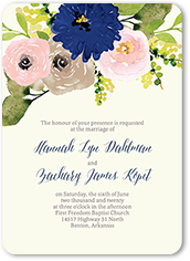 bohemian garden wedding invitation 5x7 flat