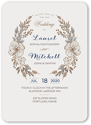 Floral Crest Wedding Invitations | Free Shipping | Shutterfly