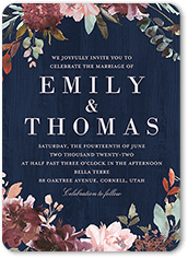 muted floral wedding invitation