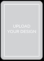 upload your own design custom greeting card 5x7 flat