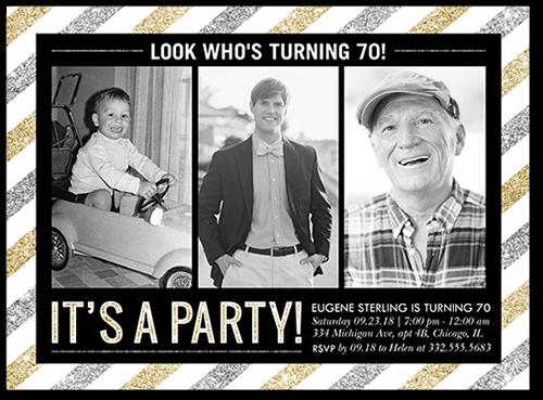 Striped Party Birthday Invitation
