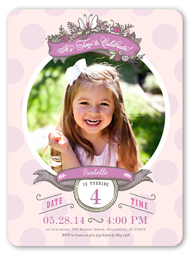 Butterfly frame 6x8 girls birthday party invitations shutterfly butterfly frame birthday invitation visible part transiotion part front filmwisefo