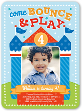 Bounce House Fun Birthday Invitation 6x8 Flat