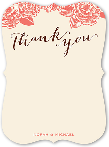 Favorite Floral Celebration Thank You Card