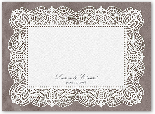 Laced With Happiness Thank You Card