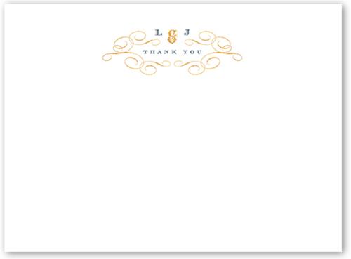Fine Flourishes Thank You Card