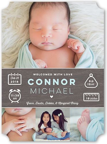 Info Banner Boy Birth Announcement