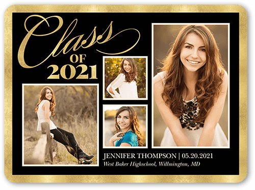 Brilliant Grad Border Graduation Announcement