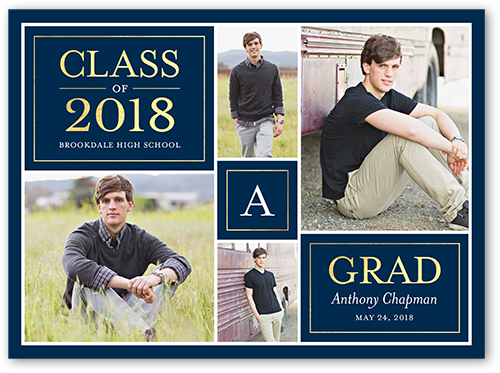 Class Monogram Graduation Announcement