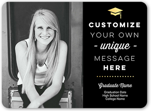 Personalized Greeting Graduation Announcement, Rounded Corners
