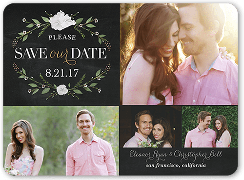 Lovely Laurel Save The Date, Rounded Corners