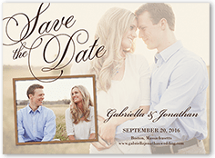 romantic overlay save the date 6x8 flat