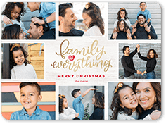 family means everything holiday card