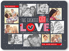 greatest gifts valentines card 6x8 flat