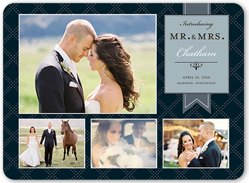 Elegant Introduction Wedding Announcement, Square