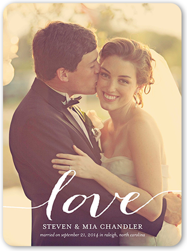 Love You Wedding Announcement