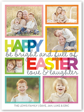 whimsical wishes easter card 6x8 flat