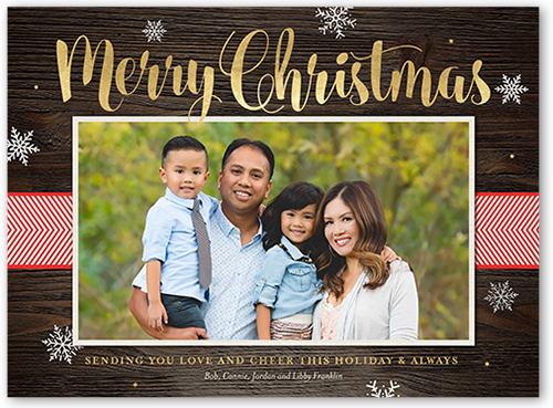 Rustic Cheer Christmas Card