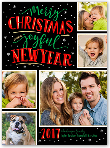 Joyful Flurries Christmas Card